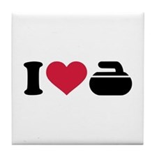 I love Curling stone Tile Coaster