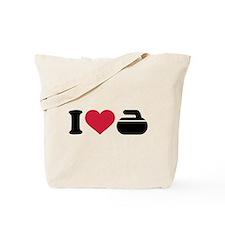 I love Curling stone Tote Bag