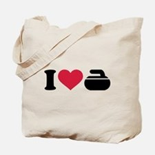I love Curling stone Tote Bag