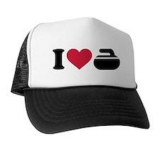 I love Curling stone Trucker Hat