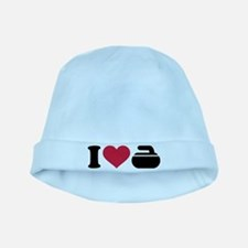 I love Curling stone baby hat