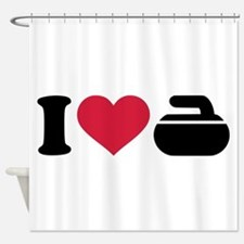 I love Curling stone Shower Curtain