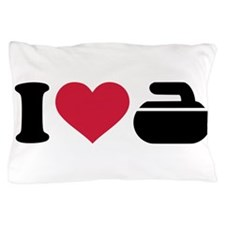 I love Curling stone Pillow Case