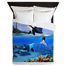THE ORCA FAMILY Queen Duvet
