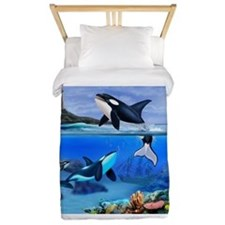 THE ORCA FAMILY Twin Duvet
