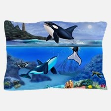 THE ORCA FAMILY Pillow Case