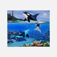 THE ORCA FAMILY Throw Blanket