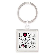 To The Moon Back Keychains