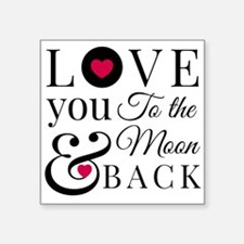 To the Moon Back Sticker
