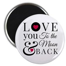 To The Moon Back Magnets