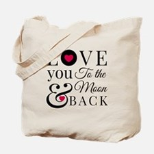 To the Moon Back Tote Bag