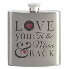 To the Moon Back Flask