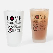 To the Moon Back Drinking Glass