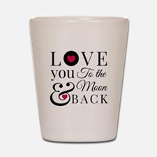 To the Moon Back Shot Glass