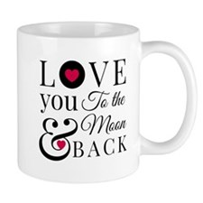 To the Moon Back Mugs