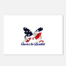 America the Butterfly Postcards (Package of 8)