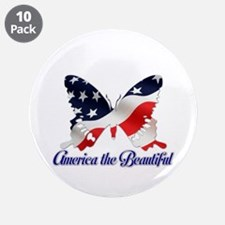 "America the Butterfly 3.5"" Button (10 pack)"