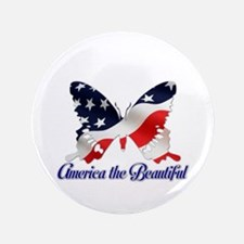"""America the Butterfly 3.5"""" Button"""