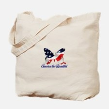 America the Butterfly Tote Bag