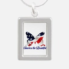 America the Butterfly Necklaces