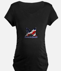 America the Butterfly Maternity T-Shirt