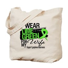 Wife Lymphoma Ribbon Tote Bag
