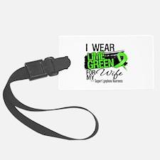 Wife Lymphoma Ribbon Luggage Tag