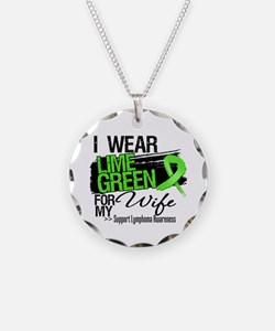 Wife Lymphoma Ribbon Necklace