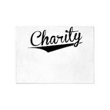 Charity, Retro, 5'x7'Area Rug