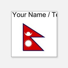 Custom Nepal Flag Sticker
