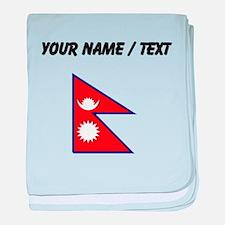 Custom Nepal Flag baby blanket