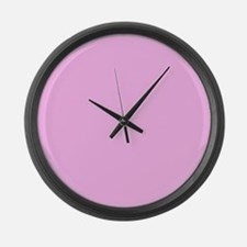 Pink Solid Color Large Wall Clock