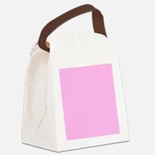 Pink Solid Color Canvas Lunch Bag