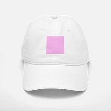 Pink Solid Color Baseball Baseball Cap