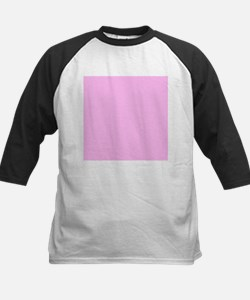 Pink Solid Color Baseball Jersey