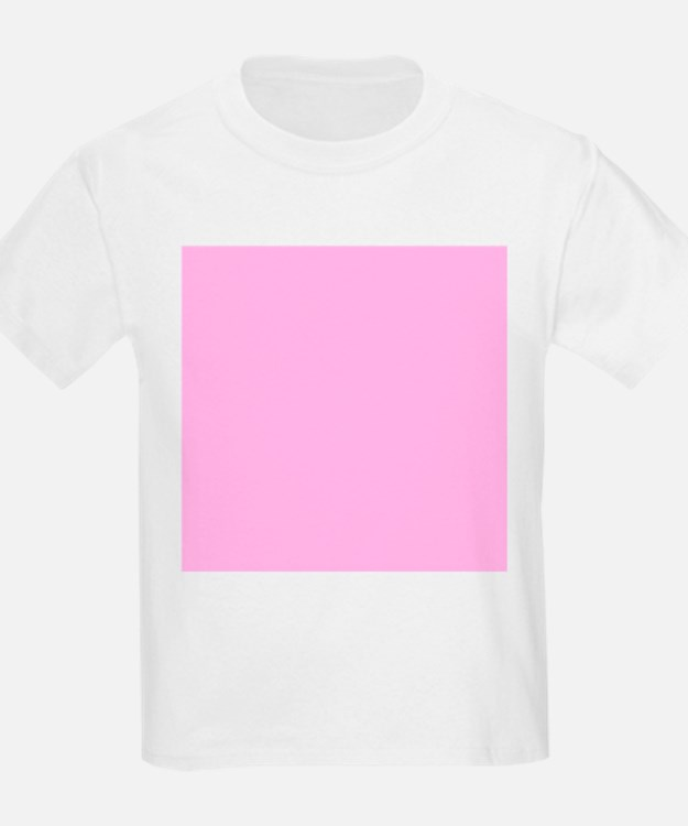 Pink Solid Color T-Shirt