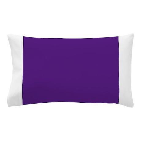 Dark Purple Solid Color Pillow Case by Admin_CP49789583