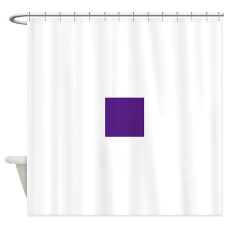 Dark Purple Solid Color Shower Curtain By Admin CP49789583