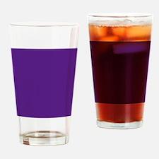 Dark Purple Solid Color Drinking Glass