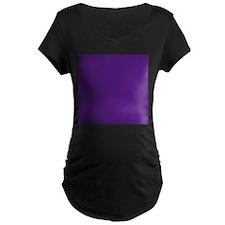 Dark Purple Solid Color Maternity T-Shirt