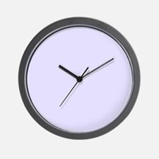 Lilac Purple Solid Color Wall Clock