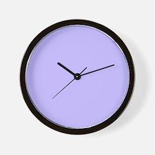 Light Purple Solid Color Wall Clock