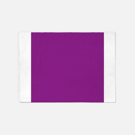 Plum Purple Solid Color 5'x7'Area Rug