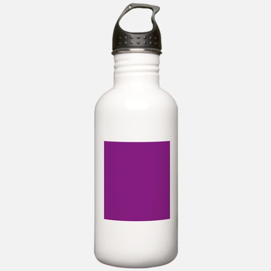 Plum Purple Solid Color Sports Water Bottle