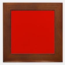 Red Solid Color Framed Tile