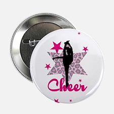 """Pink Cheerleader 2.25"""" Button"""