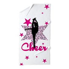 Pink Cheerleader Beach Towel