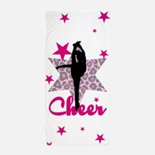 Pink Cheerleader Beach Towel