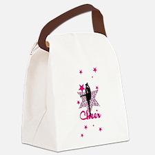 Pink Cheerleader Canvas Lunch Bag