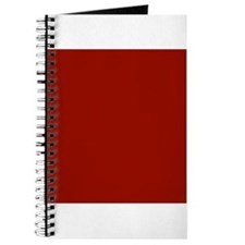 Dark Red Solid Color Journal